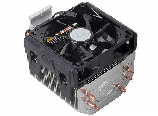 кулер для процессора cooler master hyper 103 (rr-h103-22pb-r1) 2011/1366/1156/1155/1150/775/fm2/fm1/am3+/am3 /am2 fan 9 cm, 800-2200 rpm, pwm, 43.1 cfm, tdp 160w