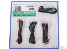 Блок питания  Chieftec 750W Retail CTG-750C [А-80] МОДУЛЬНЫЙ, v.2.3, КПД ) 85% , A.PFC, 2x PCI-E (6+2-Pin), 6x SATA, 4x MOLEX, Fan 12cm
