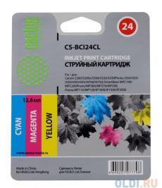 Картридж CACTUS  CS-BCI24CL для CANON S200/ S200x/ S300/ S330/ S330 Photo; i250/ i320/ i350/ i450/ i455/ i470D/ i475D; MP110/ MP130/ MP360/ MP370/ MP3