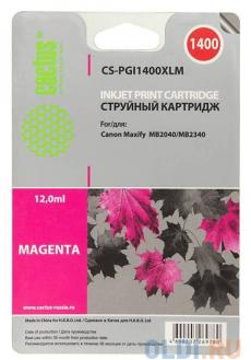 Картридж Cactus CS-PGI1400XLM для Canon MB2050/MB2350/MB2040/MB2340 пурпурный