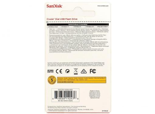 USB флешка SanDisk Cruzer Dial 32GB (SDCZ57-032G-B35)