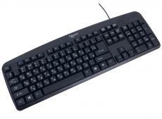 Клавиатура Gembird KB-8350U-BL, USB, черный, лазерная гравировка символов