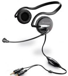 гарнитура plantronics audio 345 стерео для джек 3,5  микрофон с шумоподавлением, 20-20000 hz  + 100-8000 hz   шнур 3м
