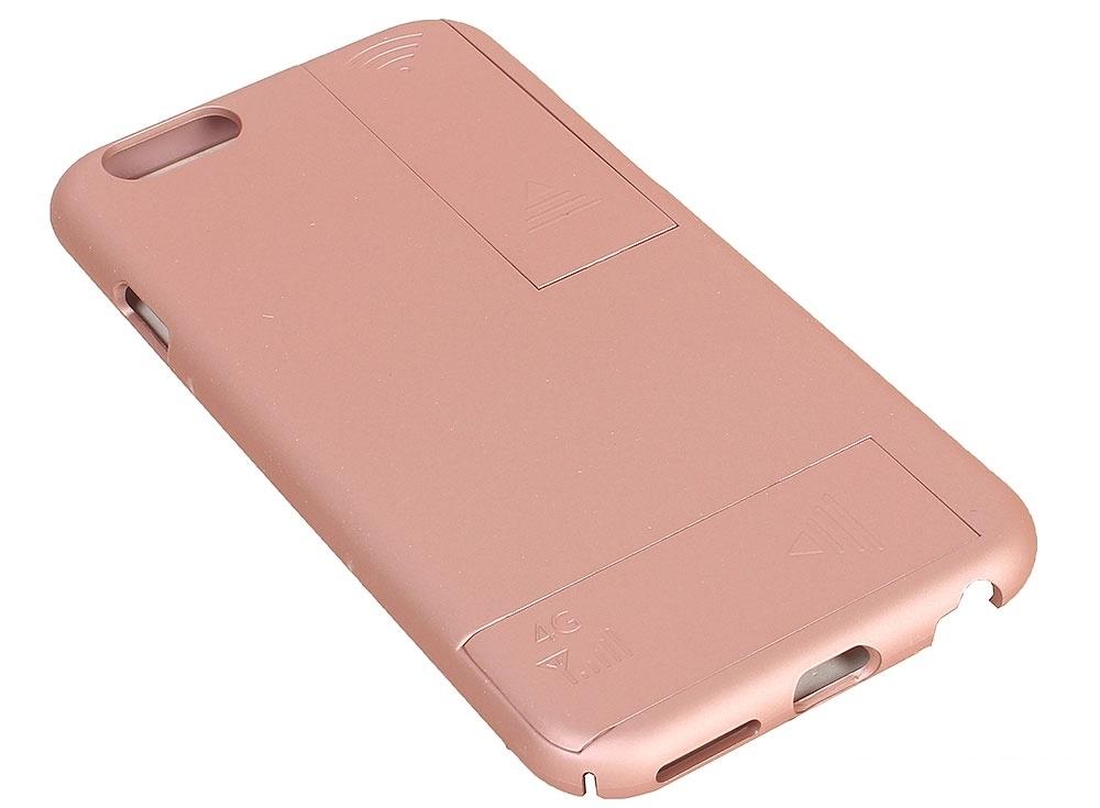 Чехол с дополнительными антеннами Gmini GM-AC-IP6RG, для iPhone 6/6S, для улучшения качества 4G и Wi-Fi сигнала, Розовое золото