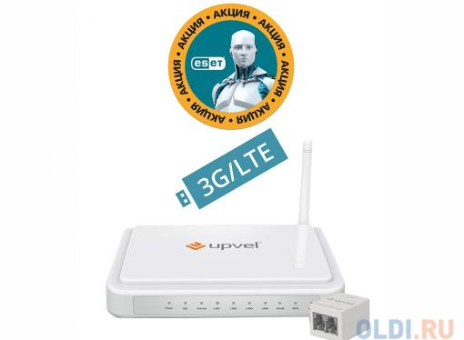 Маршрутизатор UPVEL  UR-344AN4G bandle 3G/LTE ADSL2+/Ethernet Wi-Fi роутер 802.11n 150 Мбит/сБонус ESET Nod32 Smart Security 3 мес. бесплатно + Карто