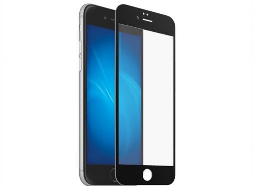 Защитное стекло для Apple iPhone 6 с цветной рамкой (white), DF