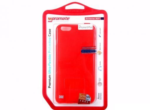 Накладка для iPhone 6 Plus Promate Schema-i6P красный