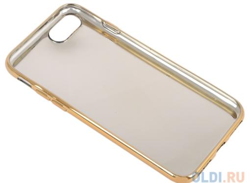 Силиконовый чехол для iPhone 7 TPU Клетка сиреневая (золотой) 0L-00029569