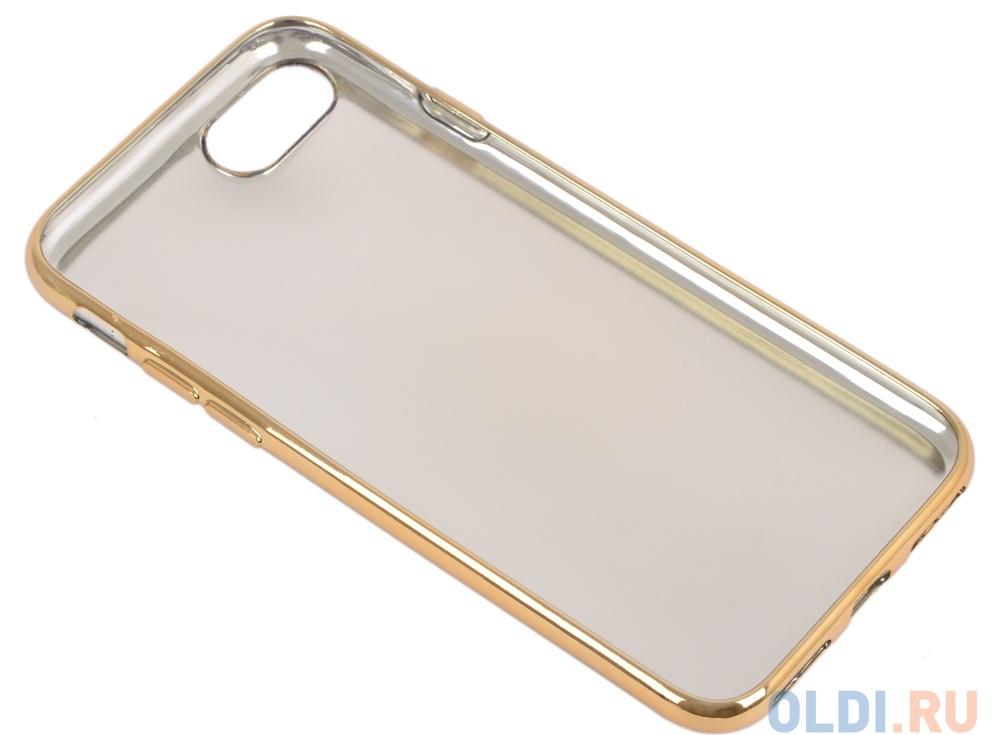 Силиконовый чехол для iPhone 7 TPU Кожа и краски (золотой) 0L-00029542