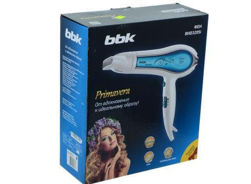 Фен BBK BHD3205i бело-голубой