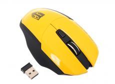 беспроводная мышь jet.a om-u38g yellow comfort (1200/1600/2000 dpi, 5 кнопок, usb, бат. ааа 2шт)