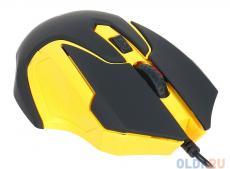 проводная мышь jet.a comfort om-u57 чёрно-жёлтая (1000/1600dpi, 3 кнопки, usb)