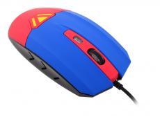 Мышь CBR CM833 Superman, оптика, встроенное Вибро (вибрация на нажатие левой/правой кнопки, массаж кисти, таймер вибро 1 раз в час), принт, 3200dpi, U