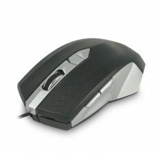 мышь игровая cbr cm 345 black-silver, оптика, 1200/1600/2400 dpi, 6 кн., провод 1,28 м, usb