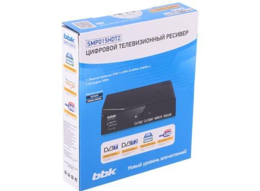 Цифровой телевизионный DVB-T2 ресивер BBK SMP015HDT2 темно-серый