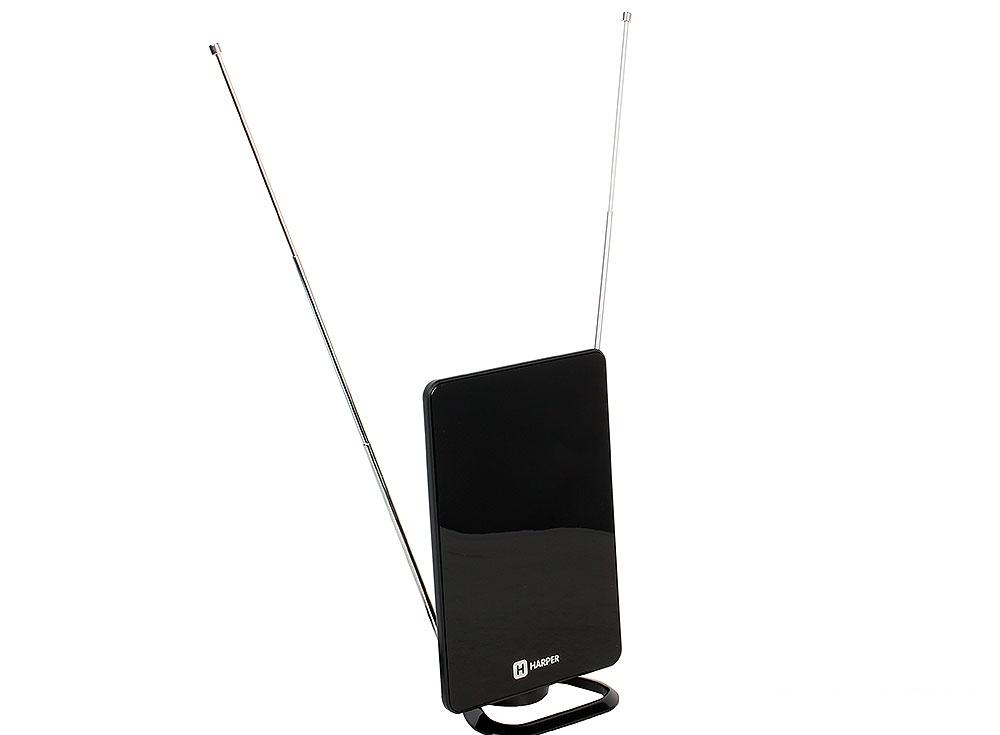 Телевизионная антенна HARPER ADVB-2820 (комнатная, активная;DVB-T2; VHF / UHF (174–230 MHz, 470-862 MHz); 25 dB; 75 ; 3 dB; питание-DVB-T2)