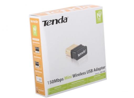 Беспроводной Wi-Fi адаптер Tenda W311MI 802.11bgn, 150Mbps, 2.4GHz, USB
