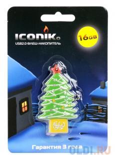 Внешний накопитель 16GB USB Drive (USB 2.0) ICONIK Ёлка (RB-TREE-16GB)