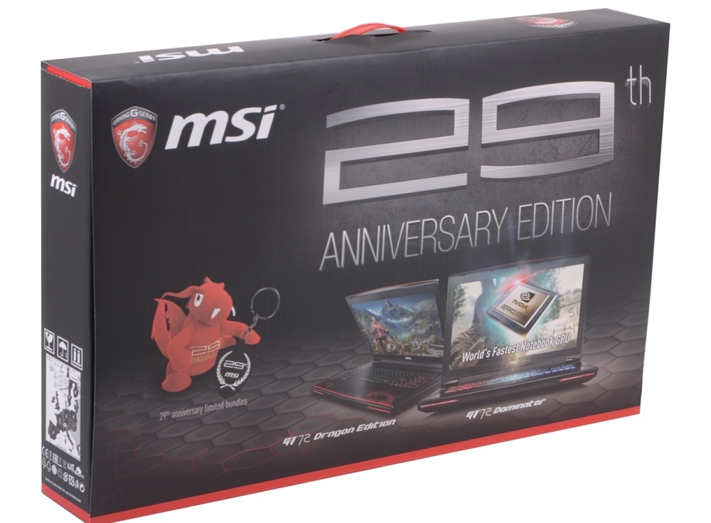 Ноутбук MSI GT72S 6QF(DominatorProGDragon)-020RU i7-6820HK(2.7)/32Gb/1Tb+512Gb SSD/17.3