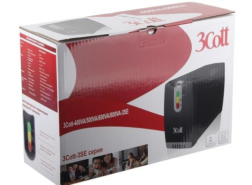 ибп 3cott 600va-3se 360w avr 3*shuko линейно-интерактивный
