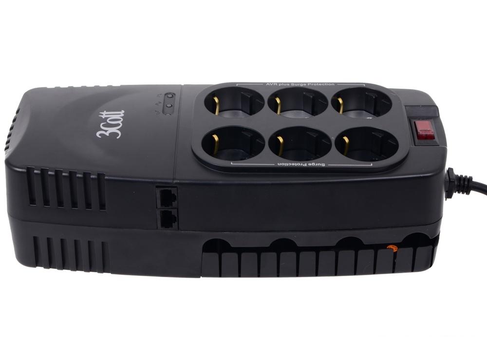 Стабилизатор напряжения 3Cott 1200VA-AVR 3*AVR + 3*Surge Protector, RJ-11/RJ-45