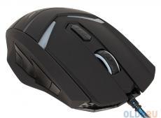 Мышь Oklick 745G LEGACY black/lt.blue optical (2400dpi) USB Gaming (6but)