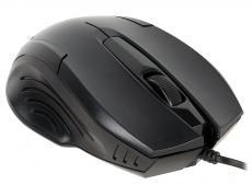 Мышь Oklick 255M black optical (1000dpi) USB (2but)