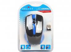 Мышь Oklick 485MW+ черный/синий оптическая (1200dpi) беспроводная USB (2but)
