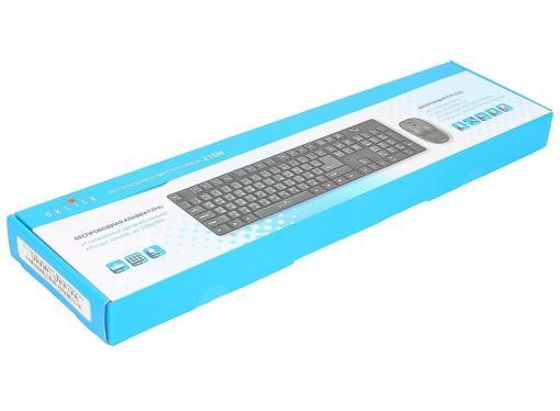 Клавиатура + мышь Oklick 210M kb:black mou:black USB cordless